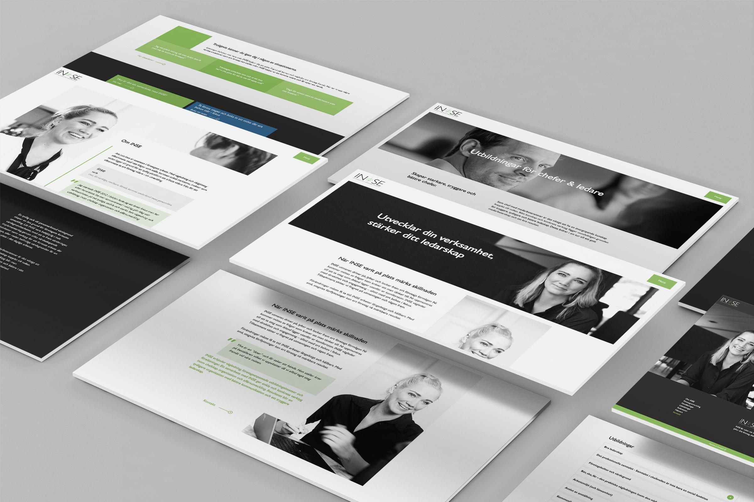 INSE mockup desktop hemsida